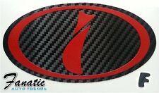 02-03 WRX STi Impreza Precut Carbon Fiber Vinyl Emblem Overlays Wrap Badge FRONT