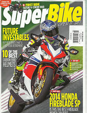 SUPER BIKE MAGAZINE, FEBRUARY, 2014 (  2014 HONDA FIREBLADE SP * 10 OF THE BEST
