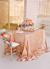 """Newest Fashion Rose Gold Sequins Wedding Party Tablecloth (48""""*72"""")"""