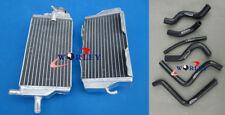 L&R For Honda CR125 CR125R 2 stroke 2000 2001 Aluminum Radiator+BLACK HOSE