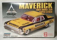 Lindberg 1:25 Scale Maverick 1964 Dodge 330 Super Stock Plastic Model Kit 72174