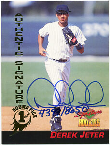 1994 -Derek Jeter- Signature Rookies Pack Certified Autograph/Auto Baseball Card
