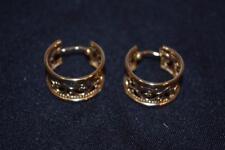 14K Gold Wide Hoop Earrings  4.3 Grams   SCRAP or WEAR