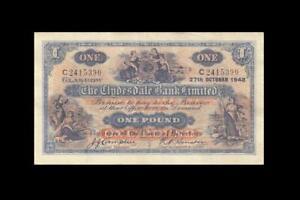 "1948 CLYDESDALE BANK SCOTLAND 1 POUND ""Campbell"" **X-RARE** (( aUNC ))"