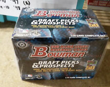 2001 Bowman Draft Picks & Prospects Factory Sealed  Set 110 Cards 1 Auto & Relic
