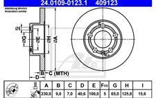 ATE Juego de 2 discos freno Trasero 232mm para SEAT VW GOLF 24.0109-0123.1