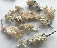 Vintage Millinery Flowers Doll Trim Bridal Wreath Embellishments Trims