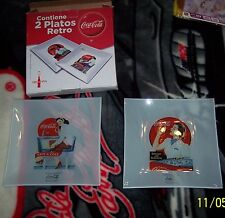 COCA - COLA  125 YEARS SET OF TWO COLLECTOR'S PLATES FROM SPAIN CALENDAR GIRLS