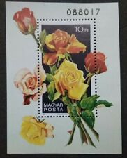 Hungary Magyar Posta Rose Flowers Miniature Limited Issue Serial No.088017 - MNH