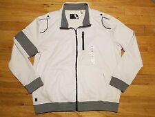 NEW Marc Ecko Cut & Sew Men's Size 2XL XXL Full Zip Track Jacket White Black NWT