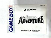 The Castlevania Adventure Nintendo Game Boy Instruction Manual Booklet Book ONLY