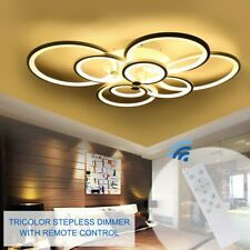 Modern Ring LED Acrylic Ceiling Lamp Pendant Light Chandeliers Bedroom Room