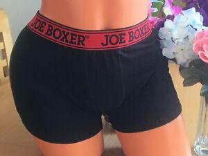 JOE BOXER Small Black w/Red Signature Waist Band Pouched Boxer Briefs Underwear