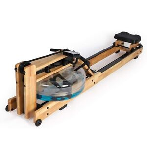Solid Wood Double Track Water Drag Rowing Machine Home Intelligent Rower Aerobic
