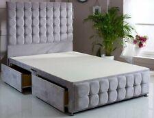 "DIVAN BED 54"" high headboard & footend design with/without mattress."