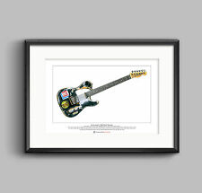 Joe Strummer's 1966 Fender Telecaster Limited Edition Fine Art Print A3 size