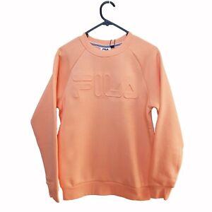 Fila- Unisex Impresso Crew Jumper Peach Pink- Size XXS Brand New!!