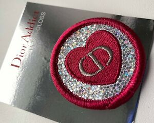 DIOR pin brooch badge LOGO ROUND PINK SILVER RARE VIP GIFT