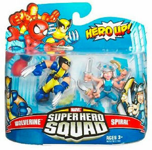 Marvel Super Hero Squad Collection_WOLVERINE and SPIRAL figures 2-Pack_MIP & New