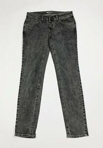 Berna jeans donna usato skinny denim W34 tg 48 aderenti grigio boyfriend T5981