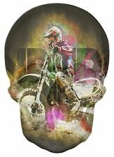 Gothic Skull Double Exposure Endure Moto X Racing View Wall Sticker Mural 699