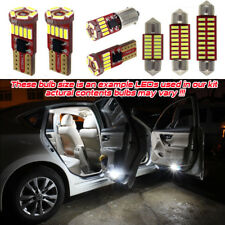 16pcs White Premium LED Bulb Interior Kit For Audi Q7 4L Error Free Canbus Light