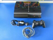 SONY PLAYSTATION 3 PS3 VIDEO GAME CONSOLE PIANO BLACK CECHJ02 40GB WORKS FINE.