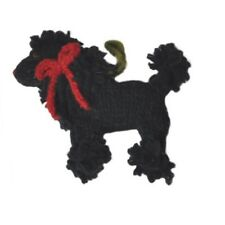 Chilly Dog Poodle White And Black 2 Ornament Combo All Wool Fair Trade