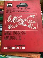 Autopress Mini, Riley Elf & Worseley Hornet Manual 59-72 Good Condition