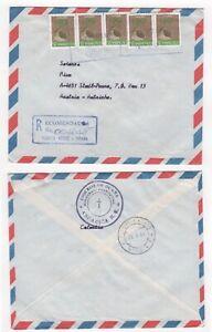 1984 COLOMBIA Registered Air Mail Cover OCAÑA to STADL-PAURA AUSTRIA SG1704