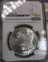 1885-O Morgan Silver Dollar NGC MS65 Blast White GEM