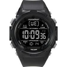 Timex TW5M22300, Men's Marathon Black Resin Watch, Indiglo, Day/Date, Alarm