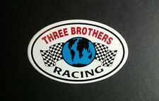 THREE BROTHERS RACING EARTH WORLD CHECKERED FLAG CAR BIKE 2x3 RACING STICKER