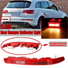 Left 4L0945095A For Audi Q7 06-15 Rear Bumper Taillight Reflector Red Lens