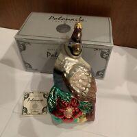 Beautiful Polonaise Kurt S. Adler Komozja - Partridge - Christmas Glass Ornament