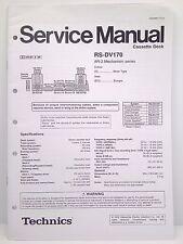 Technics Original Service Manual RS-DV170 Cassette Deck
