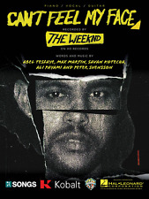 """""""The Weeknd-Can'T Feel My Face"""" Piano/Vocal/Guitar Sheet Music-Brand New On Sale"""