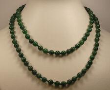 Grün Aventurin Jaspis Kette, Jaspis Kugelkette, vielfältig tragbar, Länge 80cm