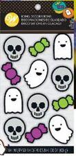 Ghost Skull Dot Matrix Icing Decorations 12 Ct Wilton Halloween