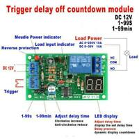 DC 12V LED Display Countdown Timing Timer Delay Turn OFF Relay Switch Module 1pc