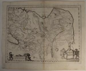 CHINA MOMGOLIA RUSSIA CENTRAL ASIA 1646 MERIAN RARE ANTIQUE COPPER ENGRAVED MAP