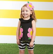 NEW Mud Pie SHORT SET Size 0-6 Months Baby Girl Pink Swing Back GIFT