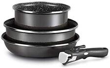 LOT de 3 pièces avec manche amovible casserole de 20 cm faitout 26 cm + poêle 26
