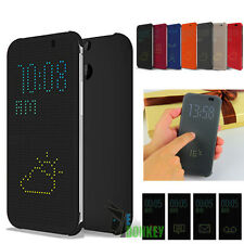 Custodia Flip Cover DOT VIEW Per HTC ONE M8 M100 Fine 2014 Slim + Pellicola