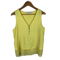 Forever New Womens Top Size Medium Yellow Sleeveless Tank Top Gorgeous Design