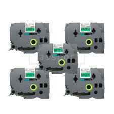 5pk Black on Green Tape Label Compatible for Brother P-Touch TZ TZe 761 36mm