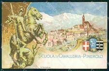 Militari Torino Pinerolo Scuola di Cavalleria San Giorgio cartolina QT8013