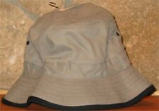 L/XL Bucket Hat Classic Travel Fishing Hiking Cap Golf 100% Cotton Grey Black