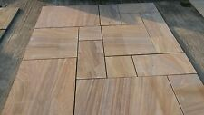 RAINBOW SMOOTH NATURAL SANDSTONE INDIAN SLABS 19.19sqm PATIO PACK FLAGS PAVING