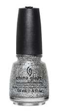China Glaze Nail Lacquer Nail Polish Silver of Sorts 82699 0.5 fl oz